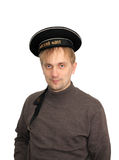 Seaman. A man is in the service cap of seaman Stock Photo