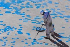 Seaman Painting His Ship novo Imagem de Stock