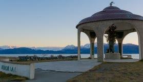 Seaman's Memorial in WInter Royalty Free Stock Images