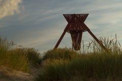 Seamark em dunas de areia em Blokhus Imagens de Stock Royalty Free