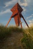 Seamark en dunes de sable dans Blokhus Images libres de droits
