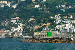 Seamark on entrance to the port of Salerno, Campania, Italy Stock Photos