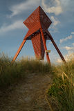 Seamark in sand dunes in Blokhus. Used for maritime navigation Royalty Free Stock Images