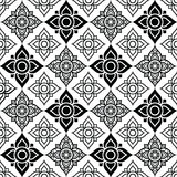 Seameless Thai pattern with tradional flower shapes Stock Images
