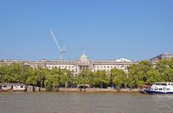 Somerset House at Victoria Embankment near River Thames in London Stock Images