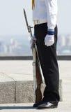 Seamen  in  uniform. Seamen soldier in dress parade uniform Royalty Free Stock Images