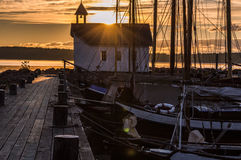 Seamen& x27; 早晨太阳的s教堂 图库摄影