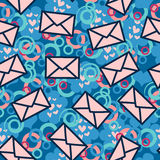 Seamess pattern with letters Stock Image