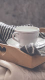 Seaming cup of coffee Royalty Free Stock Images