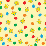 Seamlees easter pattern Stock Photography