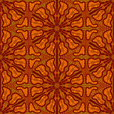Seamlees Pattern with Brown Ornament Stock Image