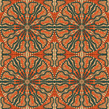 Seamlees Pattern with Round Ornament Royalty Free Stock Photos