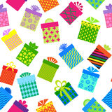 Seamleess background of gift boxes. Seamless background of gift boxes  with different  pattern Royalty Free Stock Photography