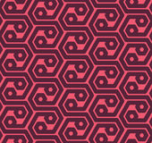 Seamles六角形提取几何样式-导航eps8 免版税库存照片