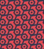 Seamles六角抽象几何样式-导航eps8 图库摄影