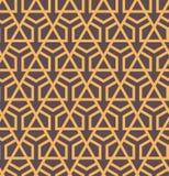 Seamles abstract geometrisch patroon met zeshoeken en driehoeken - vectoreps8 Royalty-vrije Stock Fotografie