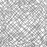Seamles abstrakta kwadrata wzór czarny white wzoru Fotografia Royalty Free