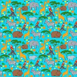 Seamles animal pattern Royalty Free Stock Photos