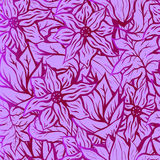 Seamles background with bright floral pattern of hand drawn doodle flowers. Good for wallpaper or textile Stock Photos