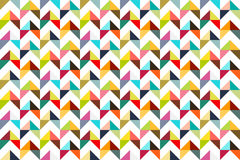 Seamles colorful triangle pattern Stock Images
