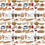 Seamles food Stock Photos