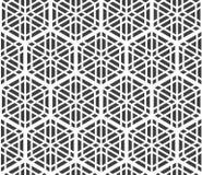 Seamles geometric ornament based kumiko zaiku Royalty Free Stock Photo