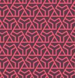 Seamles geometrisch abstract patroon met zeshoeken en driehoeken - vectoreps8 Royalty-vrije Stock Afbeeldingen