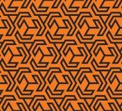 Seamles geometrisch patroon met driehoekige zwart en gele vormen - vectoreps8 Royalty-vrije Stock Afbeeldingen