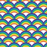 Seamles geometrisch patroon met kleurrijke regenbogen voor textiel Stock Fotografie