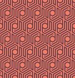 Seamles geometrisch patroon met lijnen en zeshoeken - vectoreps8 Royalty-vrije Stock Afbeeldingen