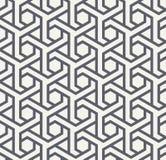 Seamles geometrisch patroon met zeshoeken en driehoeken - vectoreps8 Stock Fotografie