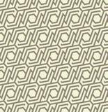 Seamles geometrisch patroon van lijnen en zeshoeken in grijze kleuren - vectoreps8 Royalty-vrije Stock Afbeeldingen
