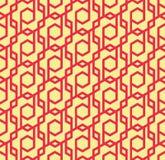 Seamles geometrisch patroon van ruiten en zeshoeken - vectoreps8 Stock Foto's