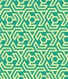 Seamles geometrisch patroon van zeshoeken en driehoeken - vectoreps8 Royalty-vrije Stock Afbeeldingen