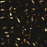 Seamles konfettibakgrund guld- bandstyckvektor stock illustrationer