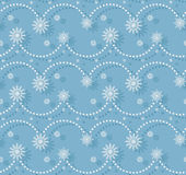 Seamles light blue pattern. With torse of snowflakes Royalty Free Stock Photos