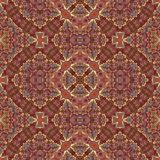 Seamles mosaic kaleidoscopic fractal in medieval style stock illustration