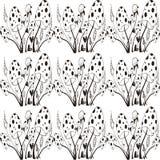 Seamles-Muster mit wilden Pilzen Lizenzfreie Stockfotografie