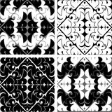 Seamles ornamental Tiles in black and white colors Royalty Free Stock Images