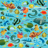 Seamles pattern with colorful fish Royalty Free Stock Image