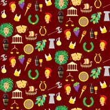 Seamles pattern with elements of ancient Greece Stock Image