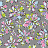 Seamles pattern with flowers in pastel tones Royalty Free Stock Images