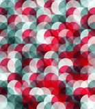 Seamles  pattern of grey and red circles Royalty Free Stock Photo