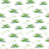 Seamles pattern with peas. Stock Photography