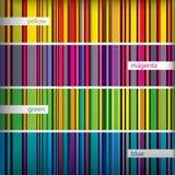 Seamles pattern stripes set. Vector. Stock Image