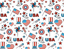 Seamles pattern. For US Independence Day 4th of July Royalty Free Stock Images