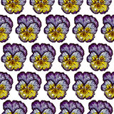 Seamles pattern wich pansies Royalty Free Stock Photo