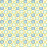 Seamles pattern with yellow and blue ovals. Royalty Free Stock Photo