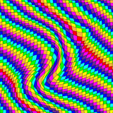 Seamles spattern with abstract square waves in rainbow colors. Stock Image
