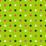 Seamles star pattern in glow punk colors Royalty Free Stock Photo